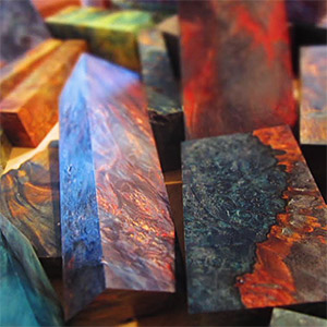Stabilized Wood Blanks with bold, vivid colors | North Woods